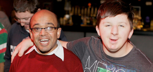 Two service users at disco
